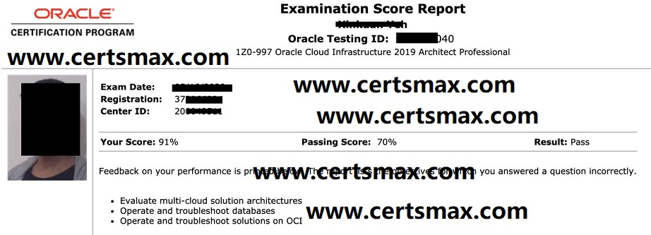 Passing Oracle Exams