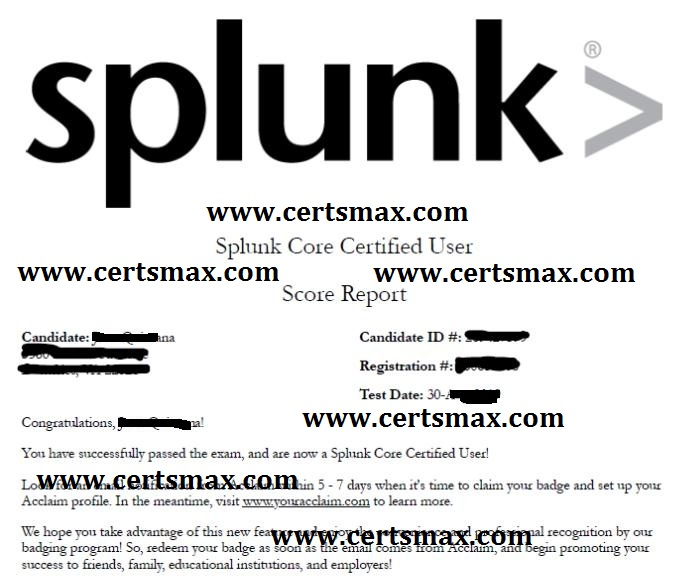 Passing Splunk Exams